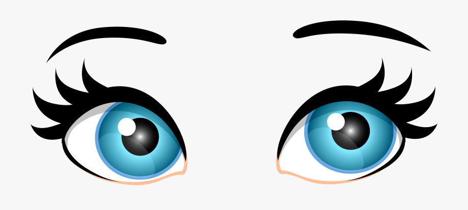 Blue Female Eyes Png Clip Art Transparent Background Eyes