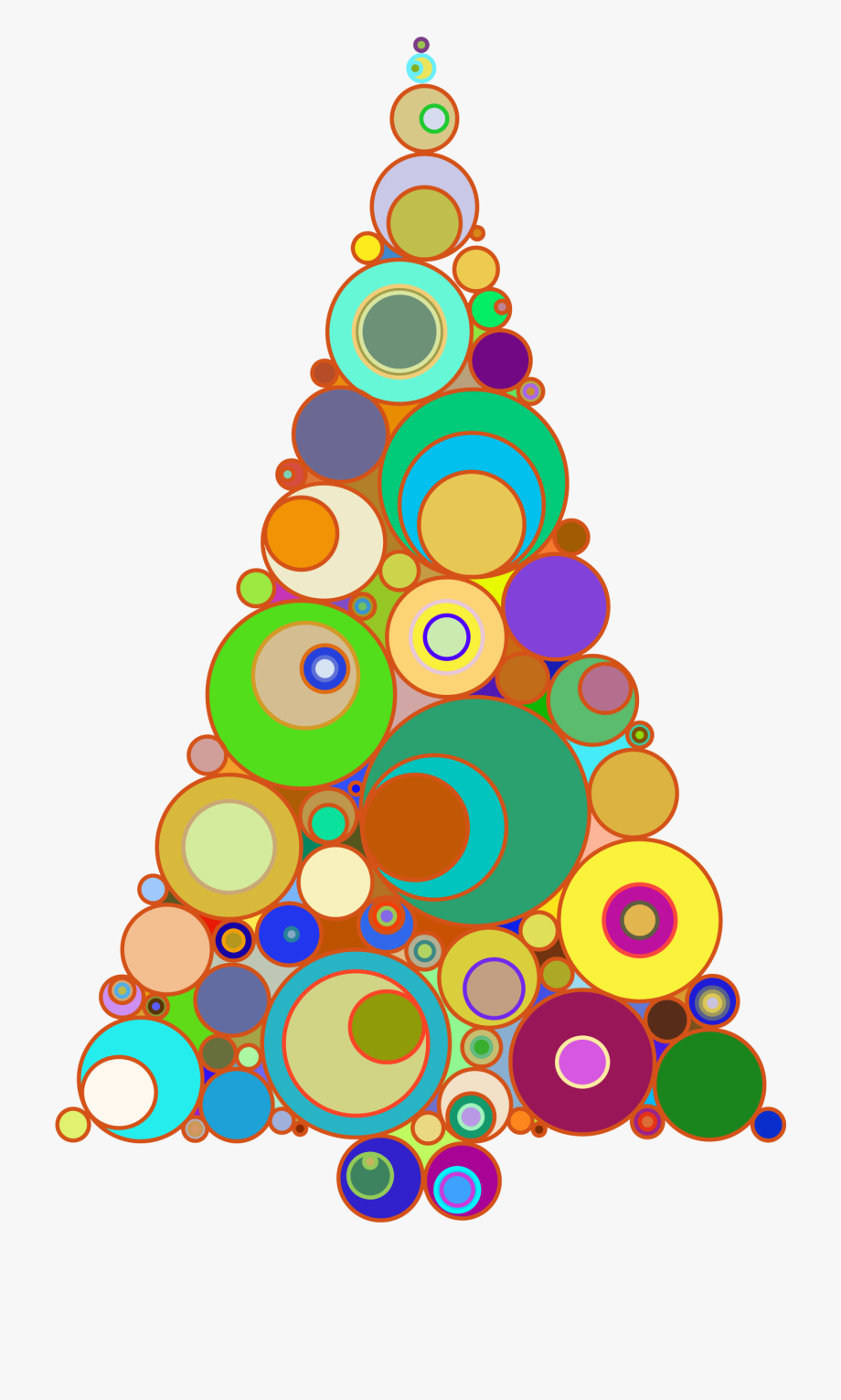 Colorful Christmas Tree Images.Christmas Tree Clipart Colorful Circles To A Christmas