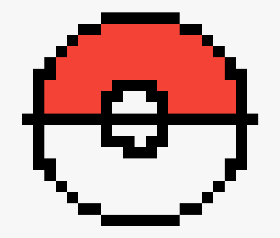 Facile Pixel Art Pokemon Pokeball