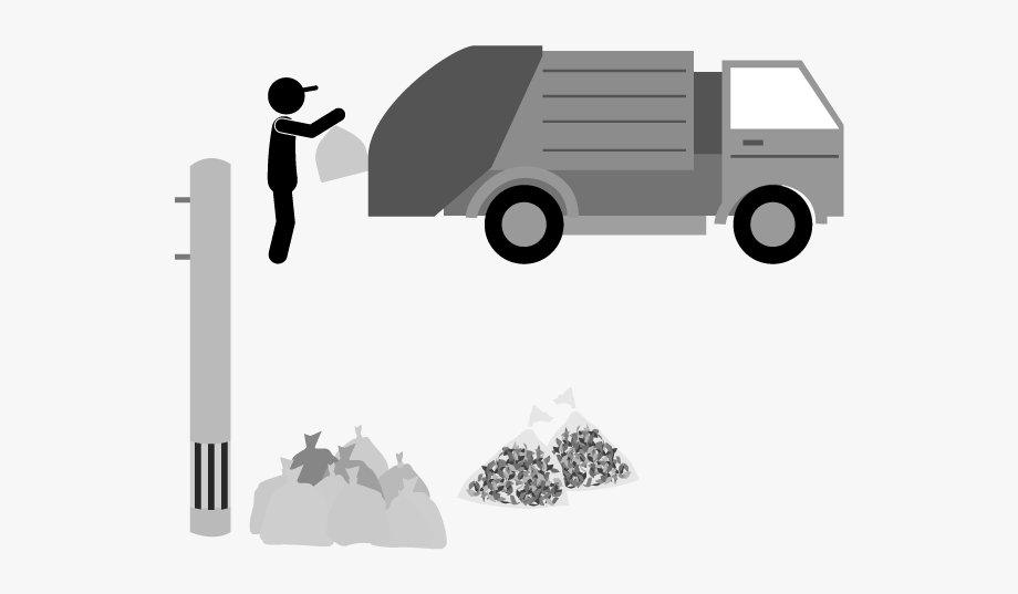 Dust Collection Worker Garbage Truck Png Icon