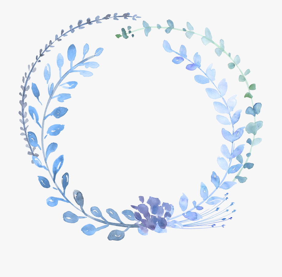 Transparent Blue Watercolor Flowers Png