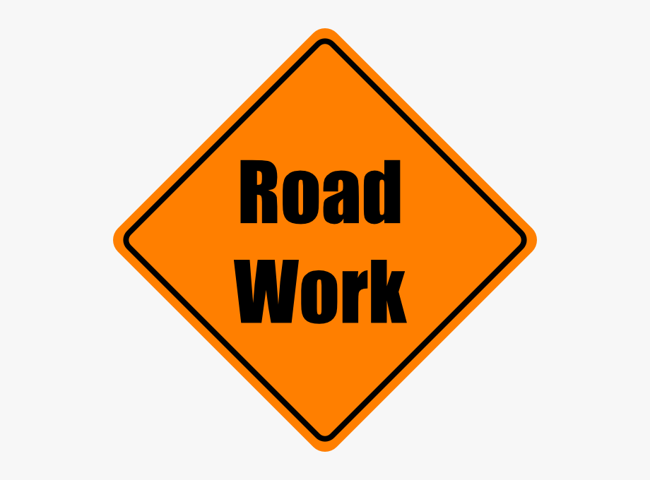 Free Construction Sign Clipart Image - Road Work Sign ...