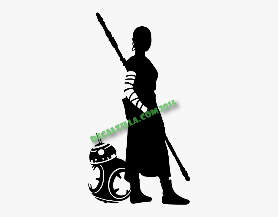 Star Wars Rey And Bb8 Rey Star Wars Silhouette