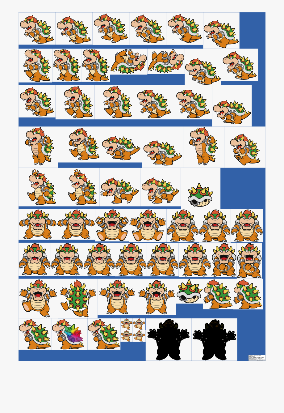 Mario Clipart Colour Paper Mario Color Splash Bowser Transparent