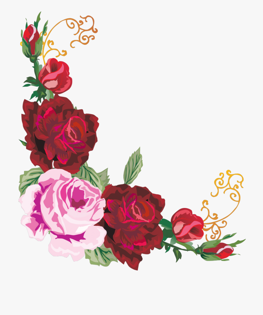 Floral Border Flower Design Free Hq Image Flower Border Design