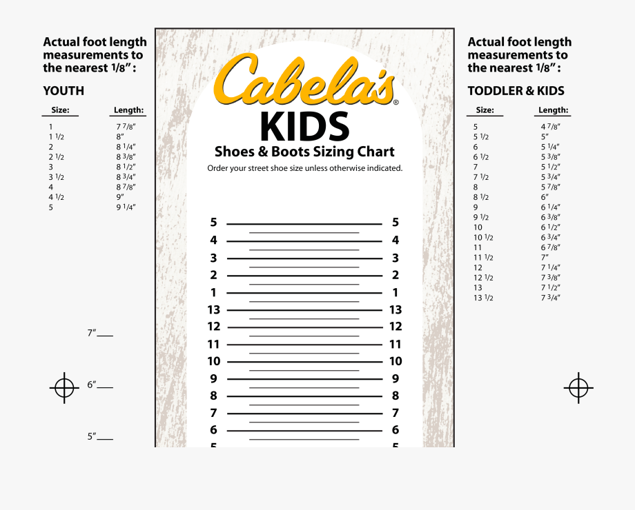 Printable Foot Size Chart Kids Printable Shoe Size Chart Transparent Cartoon Free Cliparts Silhouettes Netclipart