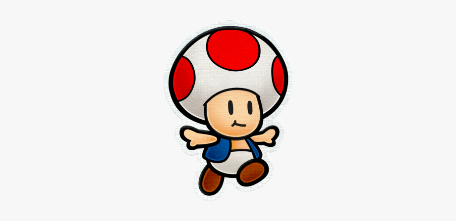 Super Mario Clipart Toad Mario Paper Mario Color Splash Toad Png