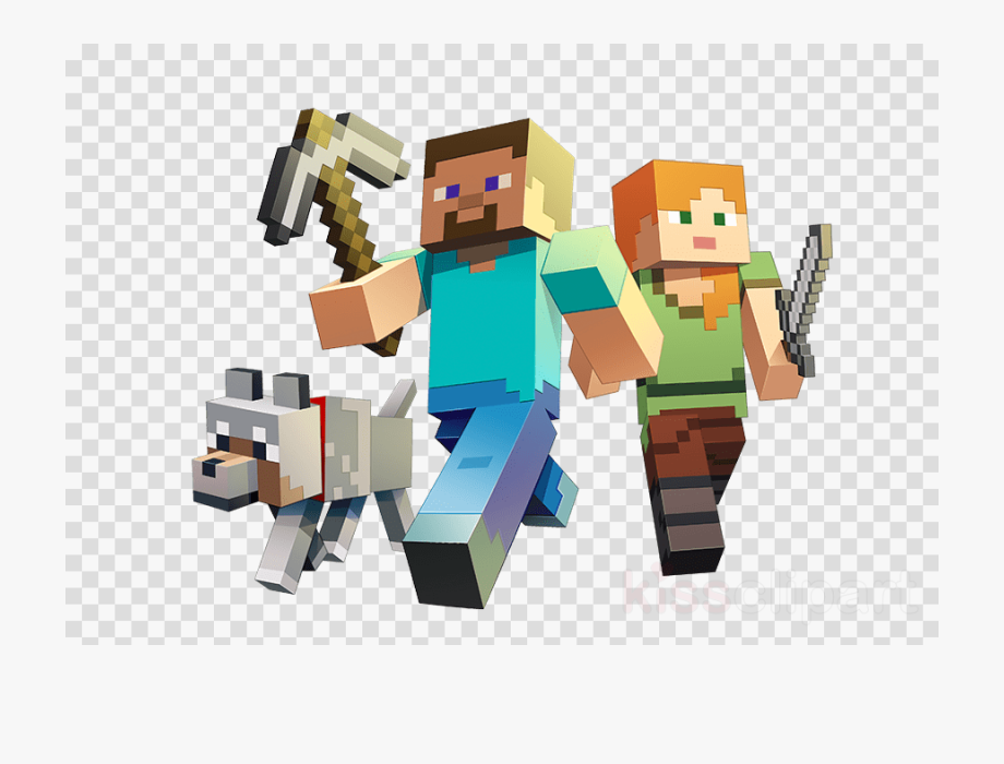 Minecraft Dog Png Minecraft Steve And Alex Png Transparent