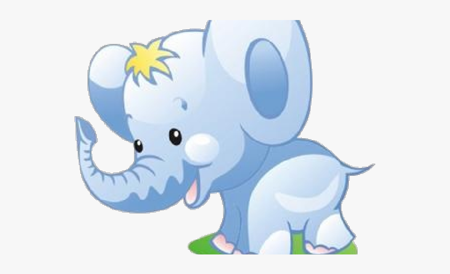 Baby Elephants Playing Clip Art