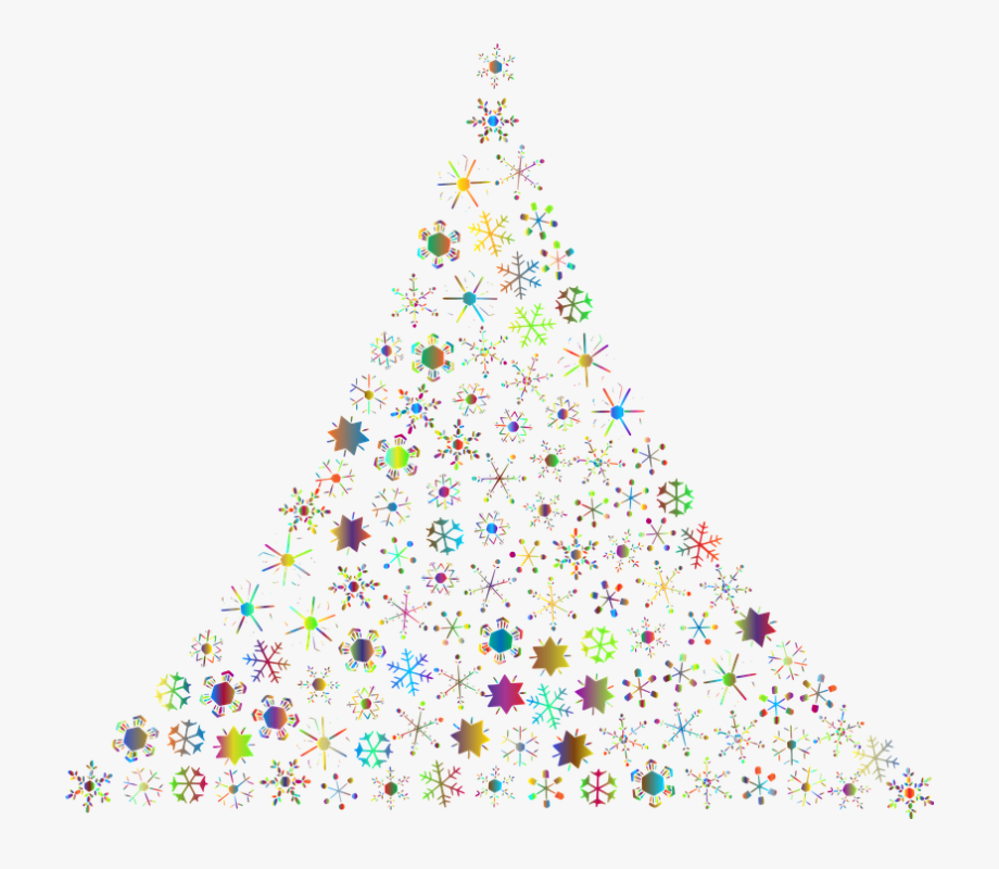 Snowflakes Abstract Christmas Tree Festive Holidays