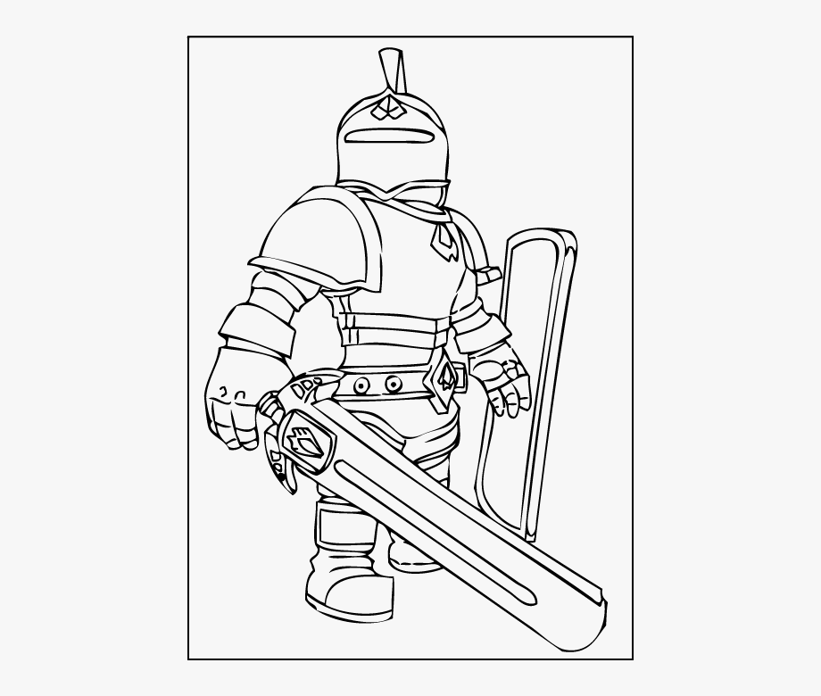 Knight Coloring Page Roblox Ninja Coloring Pages