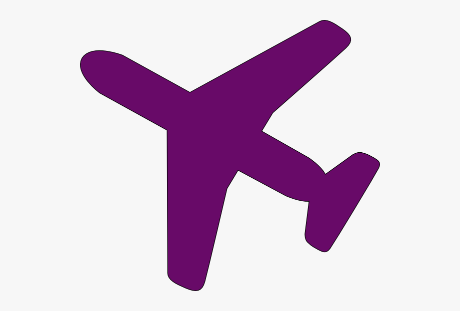 Purple Airplane Clip Art Transparent Background Plane Icon