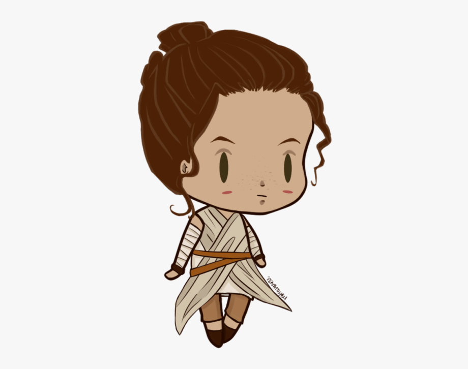 Rey Star Wars Clipart Rey Star Wars Chibi Transparent