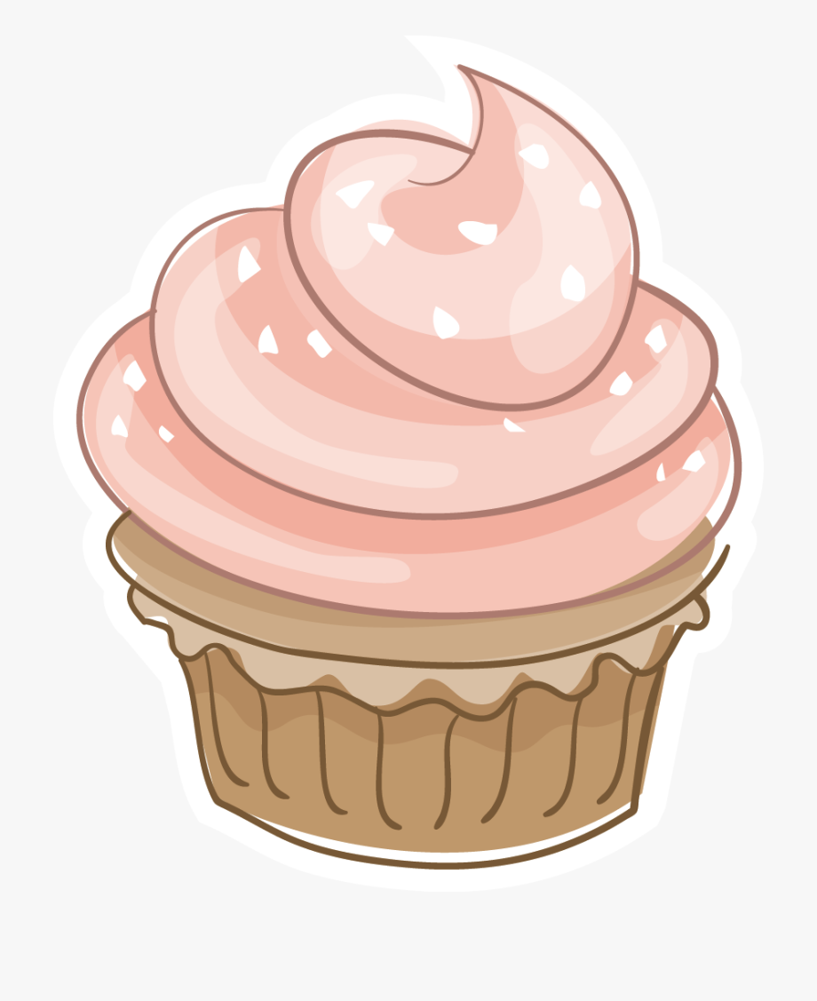 Retro Frame With Cupcakes Clipart Images