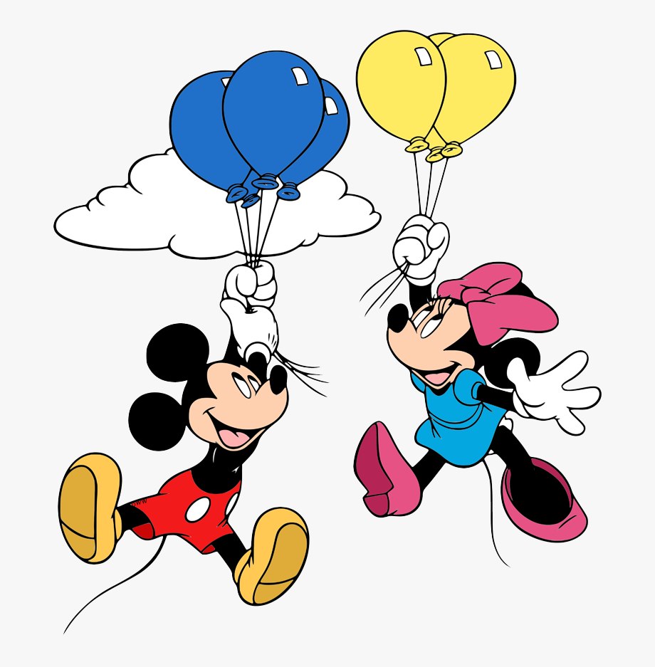 New Mickey Minnie Floating From Balloons New Mickey Disegni Da
