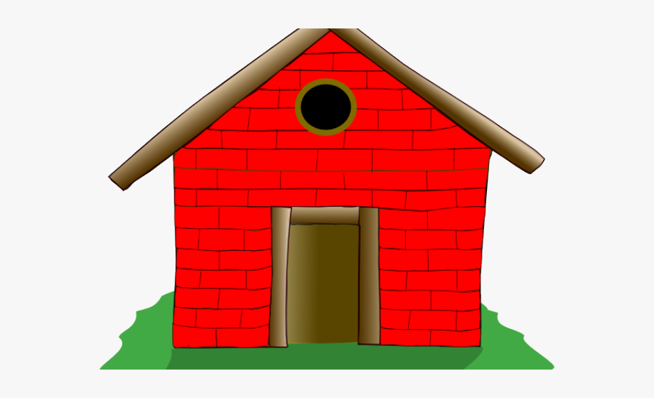 Old House Clipart Straw House Clipart Brick House Three
