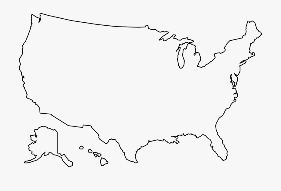 united states map outline png America Outline Png Us Map Outline Png Transparent Cartoon