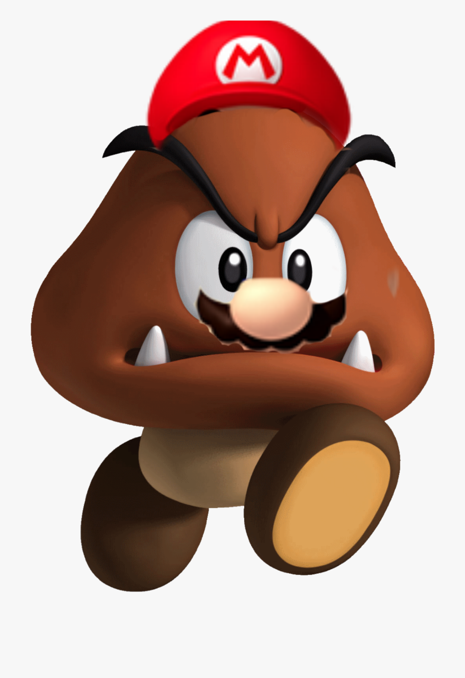 Brown Mushroom Super Mario Transparent Cartoon Free Cliparts