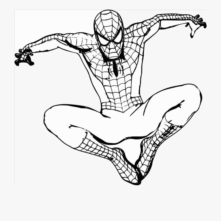 Free Black Spiderman Coloring Pages, Download Free Clip Art, Free ... | 920x920
