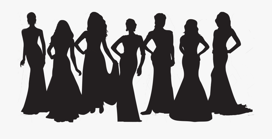 Beauty Pageant Silhouette Hd Transparent Cartoon Free Cliparts Silhouettes Netclipart