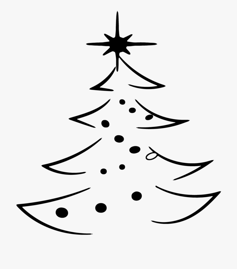 Abstract Christmas Tree Clipart White Transparent Cartoon