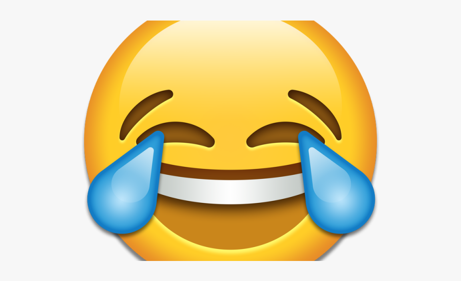 Apple smiley. Emoji clipart laughing until