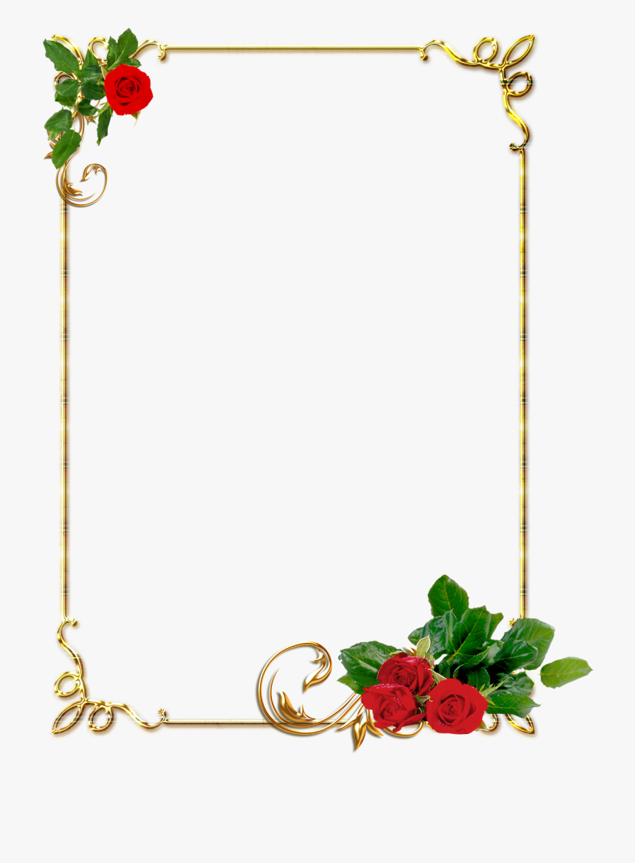 Frame Flower Border Design Transparent Cartoon Free Cliparts