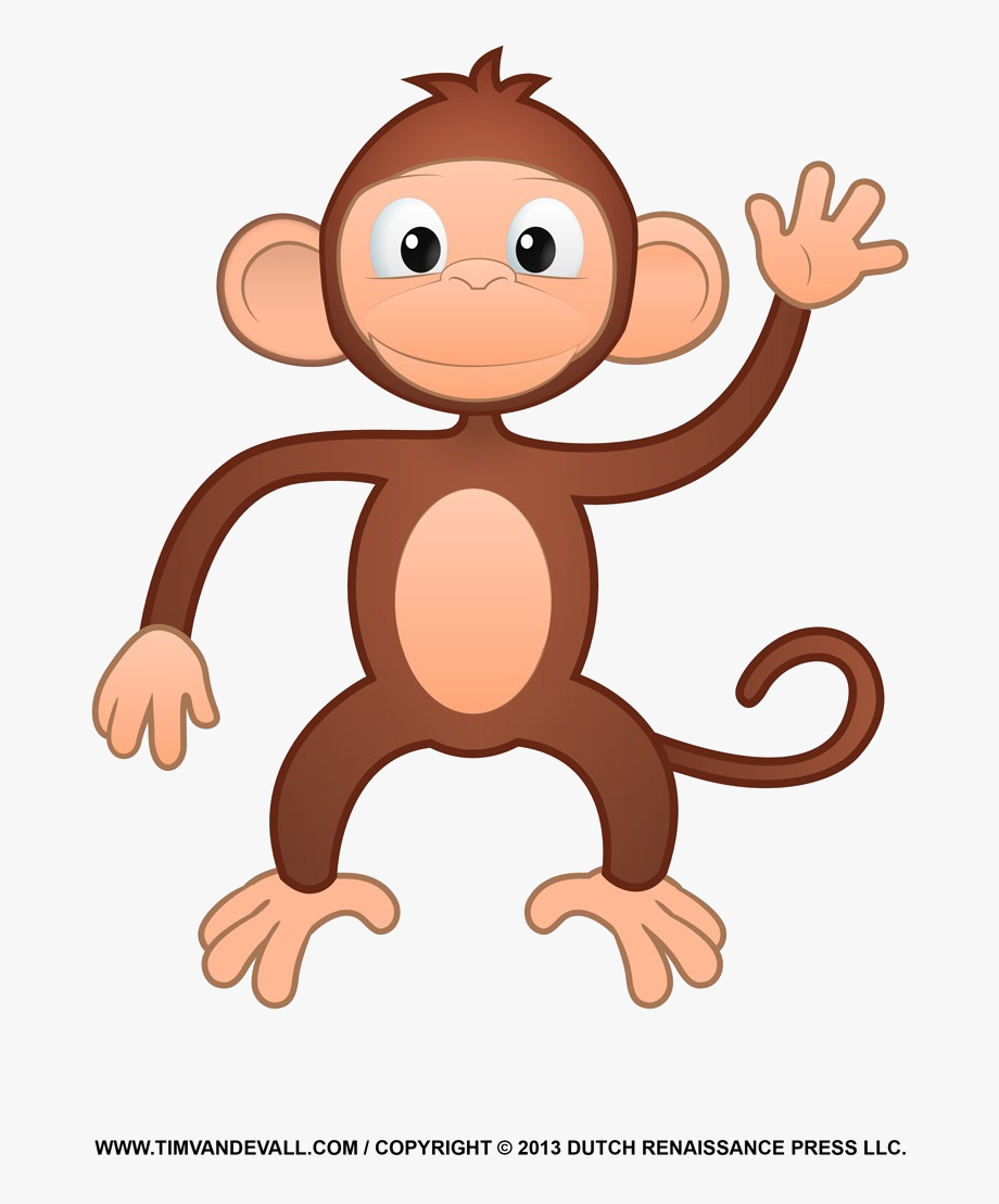 Monkey Printable Clipart Coloring Pages Cartoon Crafts