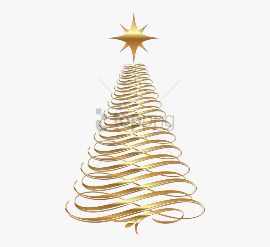 Christmas Decorations Clipart Gold Gold Christmas Tree