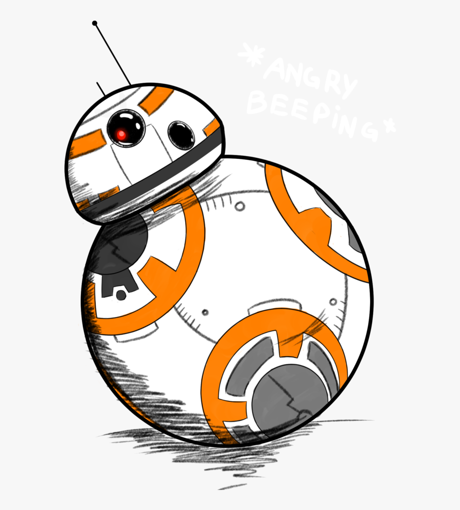 Bb 8 Drawing Star Wars Clip Art Bb 8 Star Wars Sketch