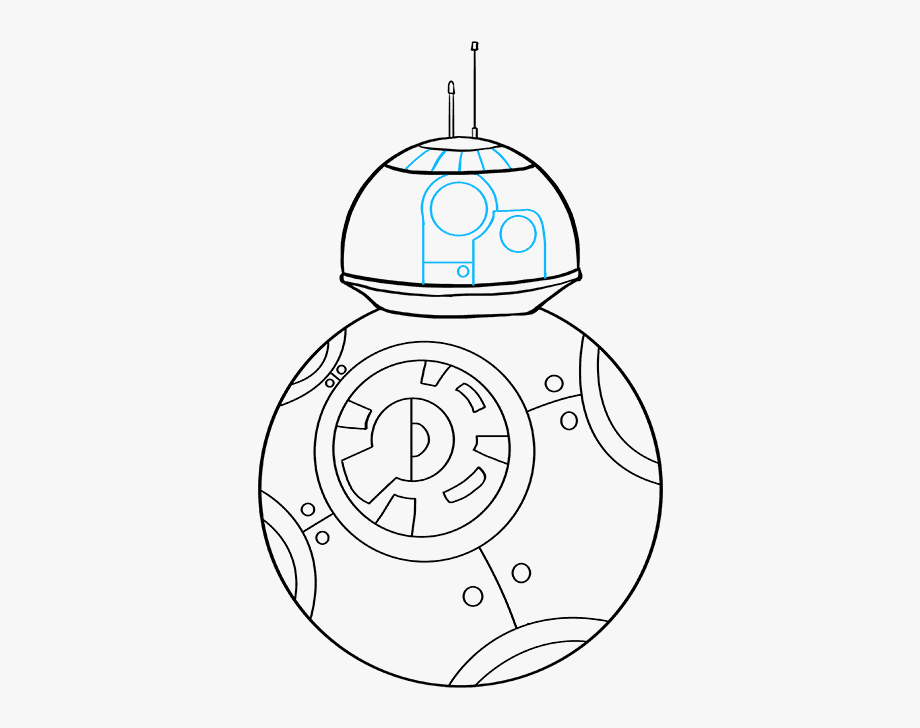 How To Draw Bb 8 From Star Wars Circle Transparent
