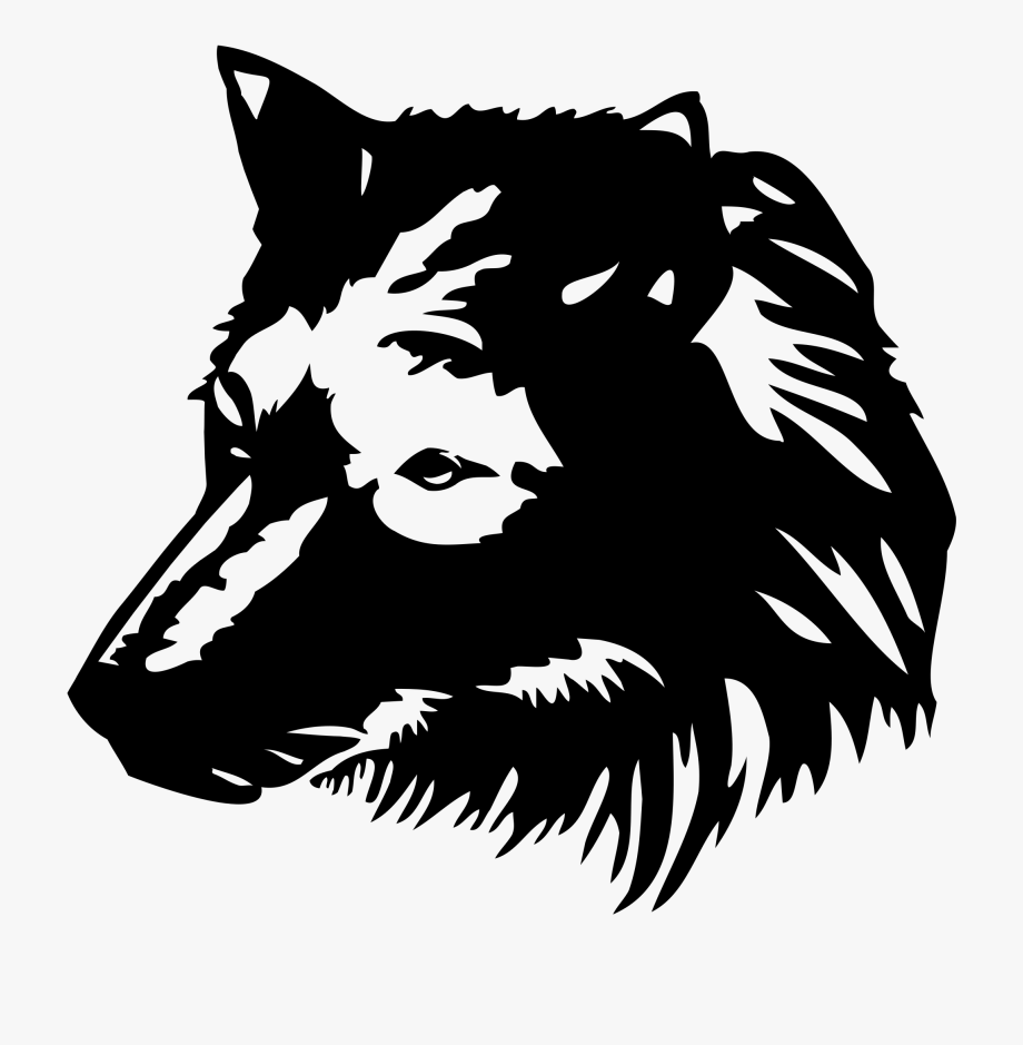 Wolf 1 Wing Logo Black And White Download Gambar