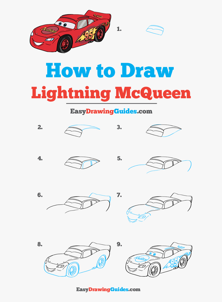 How To Draw Lightning Mcqueen Draw A Scary Clown Step