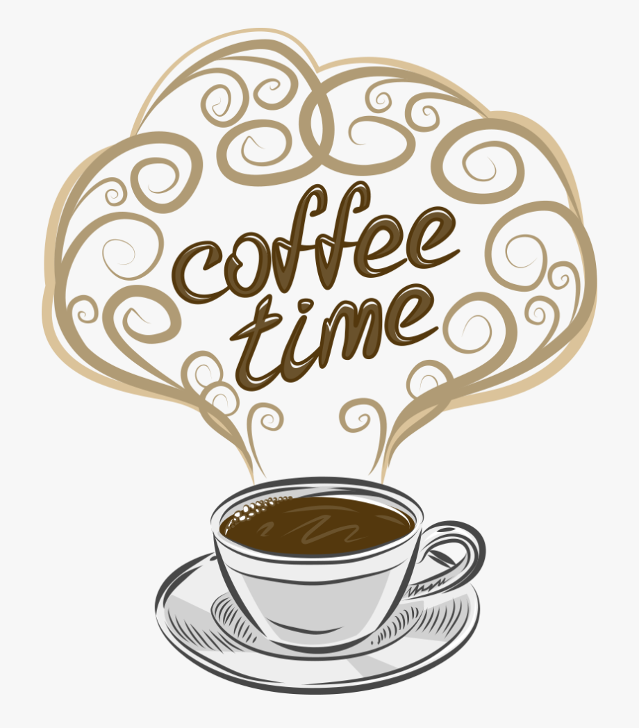 Coffee Clipart Espresso - Coffee Time Dibujo , Transparent ...