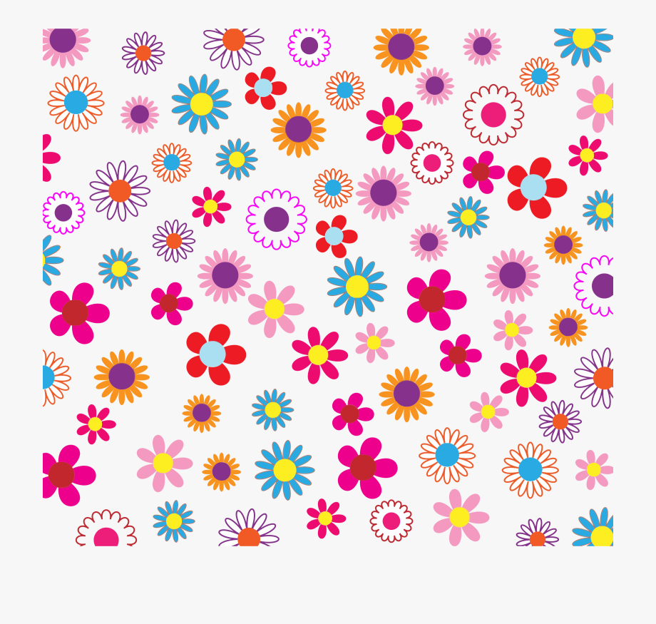 Clipart Colorful Floral Background Patterns Transparent