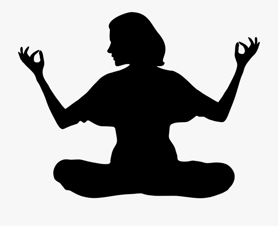 Yoga Woman Girl Free Photo Meditation Woman Silhouette Transparent Cartoon Free Cliparts Silhouettes Netclipart
