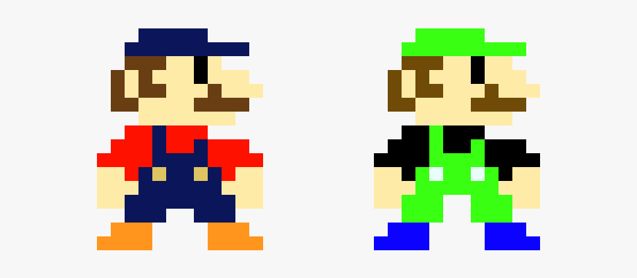 Super Mario Bros Luigi Pixel Art Transparent Cartoon Free