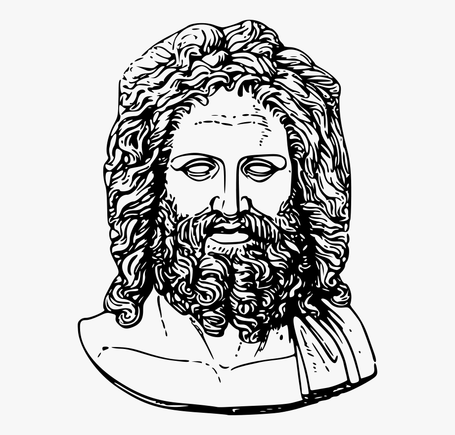 Zeus Head Transparent Cartoon Free Cliparts Silhouettes