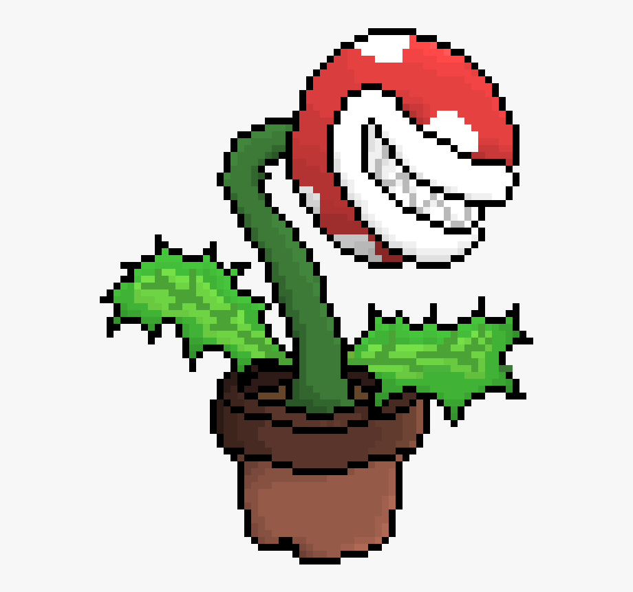 Piranha Plant Pixel Art Transparent Cartoon Free Cliparts