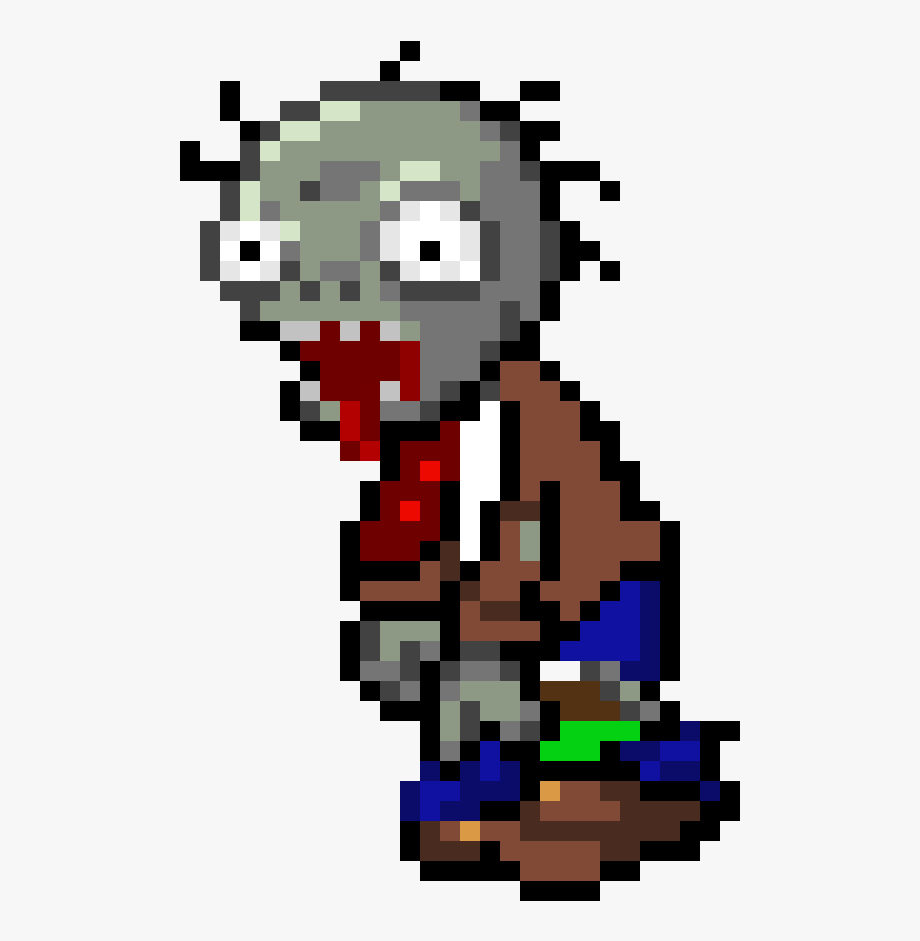 Zombies Peashooter Pixel Minecraft Pixel Art Plant Vs