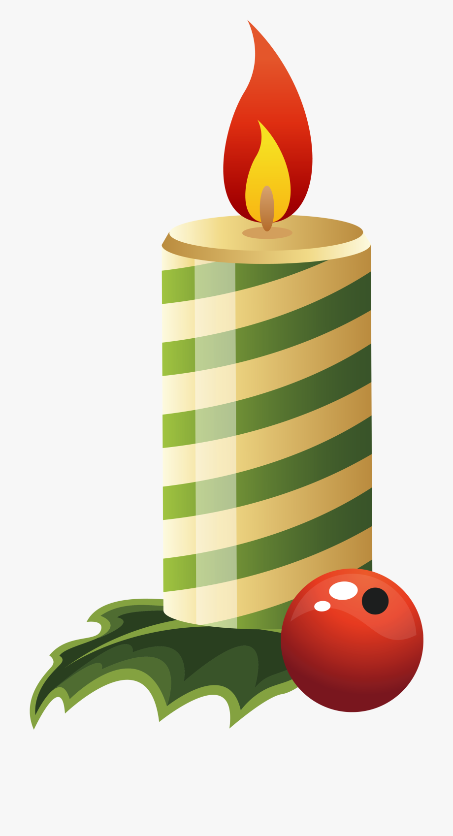 Green Christmas Candle Png Image Gallery Yopriceville - Green