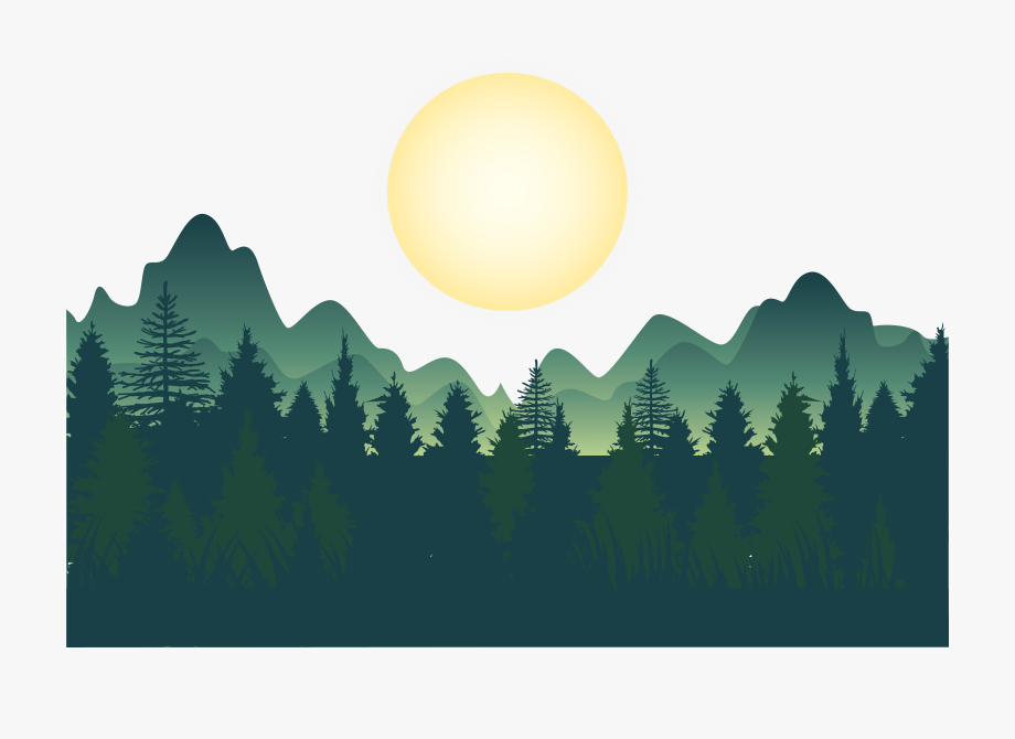 Mountains Wallpaper Deep Vector Forest Night Forest Vector