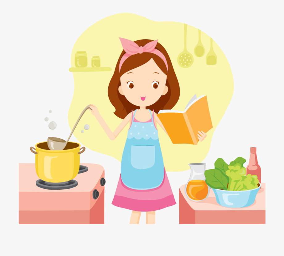 Bake Clipart Woman Girl Cooking Clipart Transparent Cartoon Free Cliparts Silhouettes Netclipart