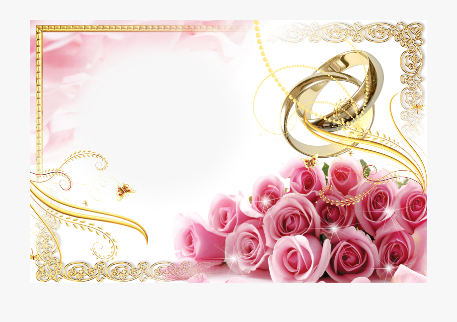 Pink Wedding Frame Background