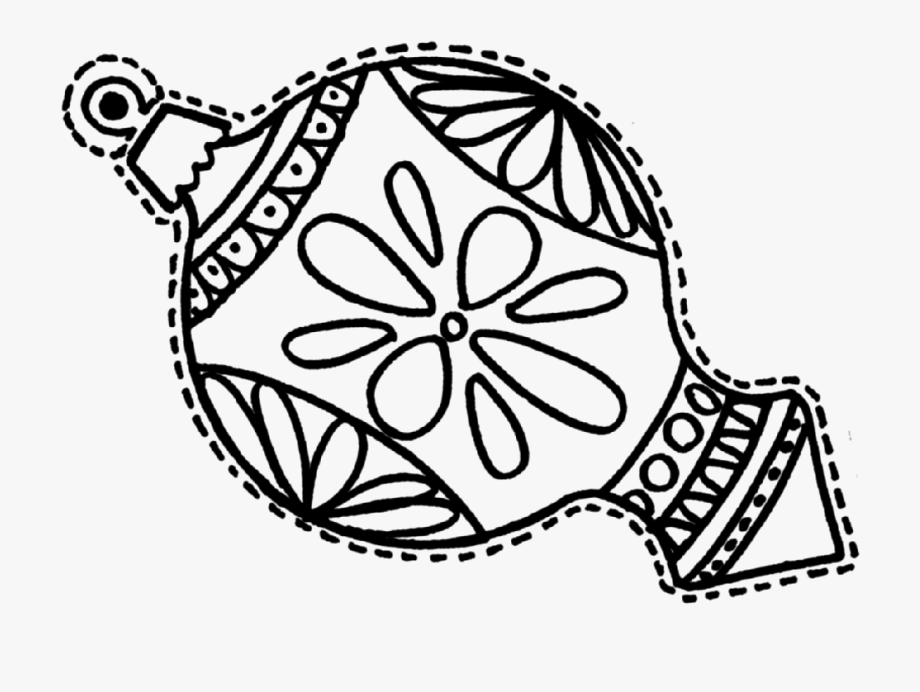 It is a photo of Coloring Pages Christmas Ornaments Printable throughout transparent