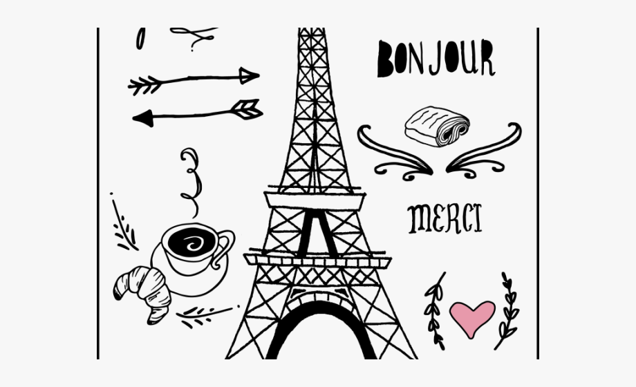Eiffel Tower Clipart Paris Love France Clipart Black And White Transparent Cartoon Free Cliparts Silhouettes Netclipart