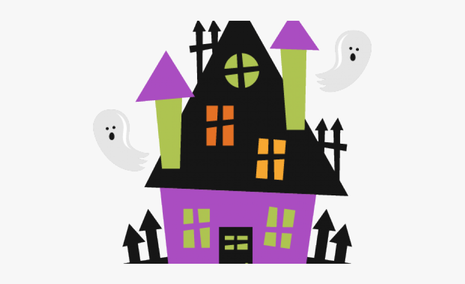 Haunted House Clipart Haunted School - Halloween Haunted House Svg ...