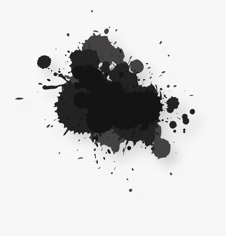 black paint png color splatter png - black watercolor paint splash