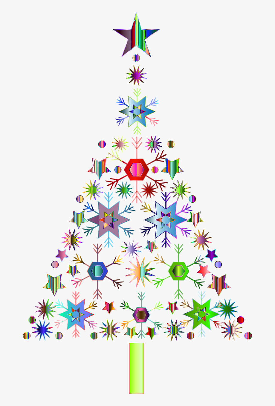 Snowflakes Christmas Tree Jesus - Transparent Background ...