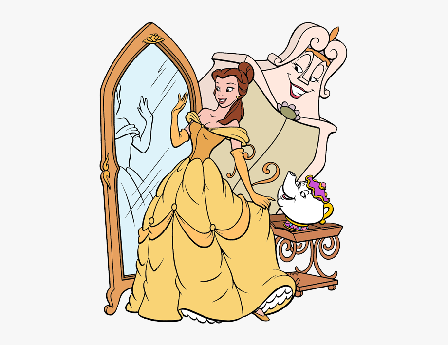Beauty And The Beast Group Clip Art - Princess Belle ...
